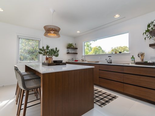 Contemporary Kitchen Eschews Clutter