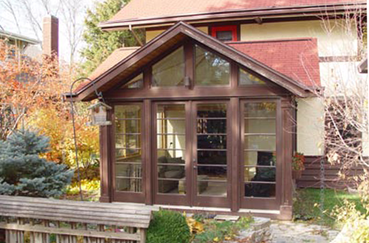 Garden sunroom exterior