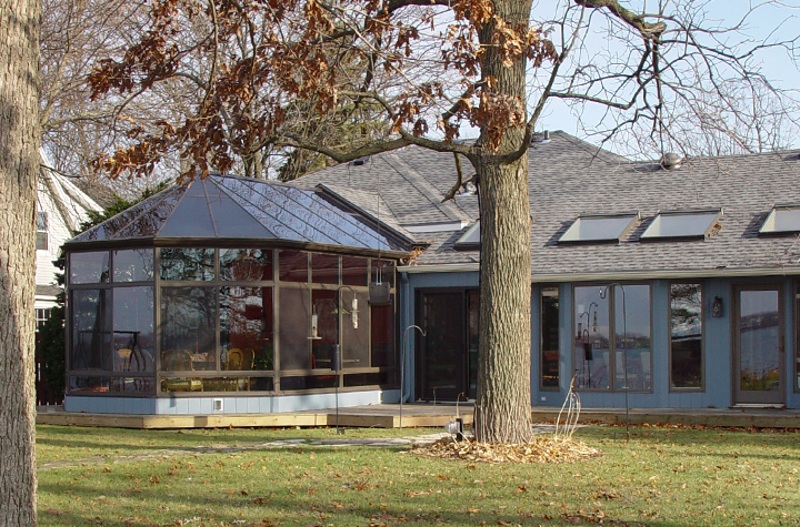 Three-season sunroom exterior
